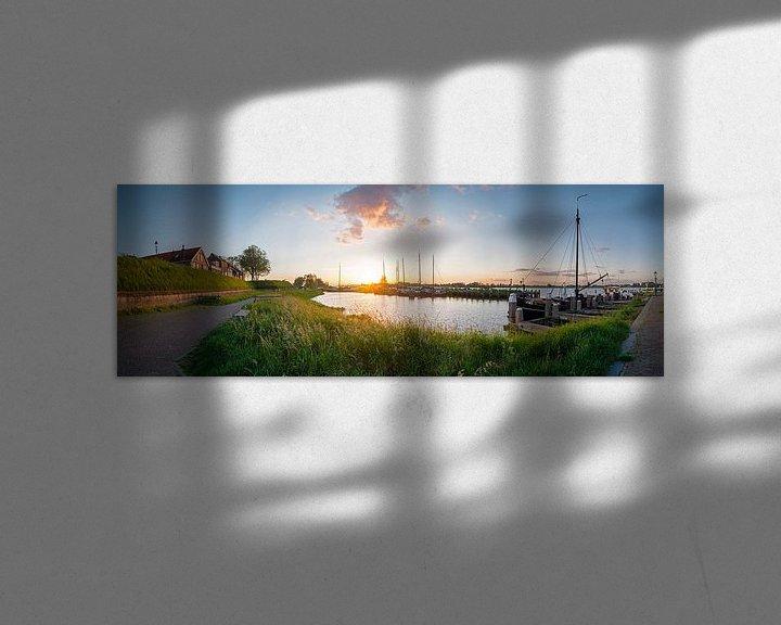 Sfeerimpressie: Panorama Woudrichem van Jan Koppelaar