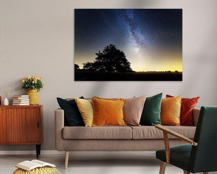 Sfeerimpressie: Melkweg boven Nederland van Anton de Zeeuw