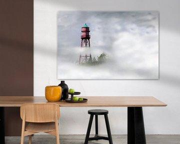 Leuchtturm im Nebel van Rolf Pötsch