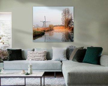 Molen in de polder von Johan Wouters