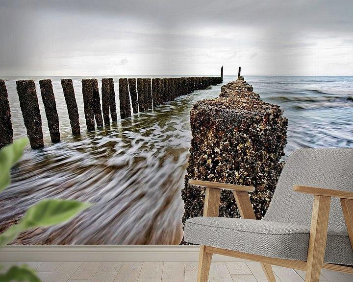 Sfeerimpressie behang: De Zee van Johan Wouters