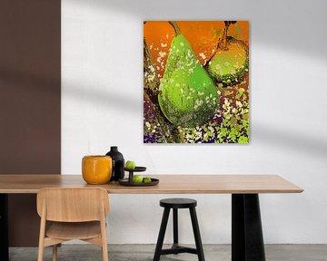 fruit X 3 appel peer food eten van Groothuizen Foto Art