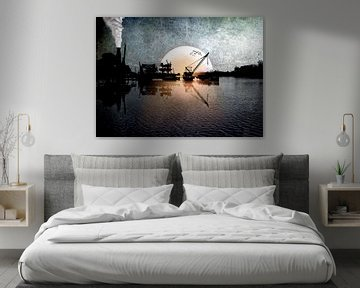Industrial sunset van Jan Pycke