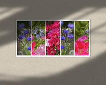 Collage Korenbloemen van Artelier Gerdah