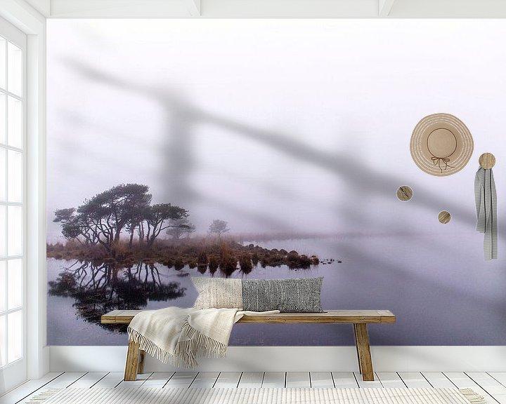 Beispiel fototapete: Spiegeling in de mist, Strijbeek, Strijbeekse heide, Noord-Brabant, Holland, afbeelding mist von Ad Huijben