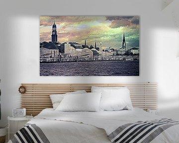 Skyline Hamburg  van Peter Norden
