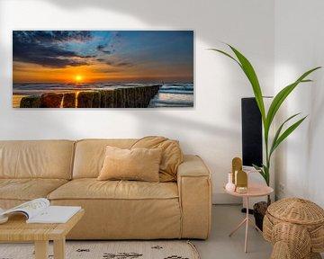 Cadzand Zonsondergang 2 van Joram Janssen