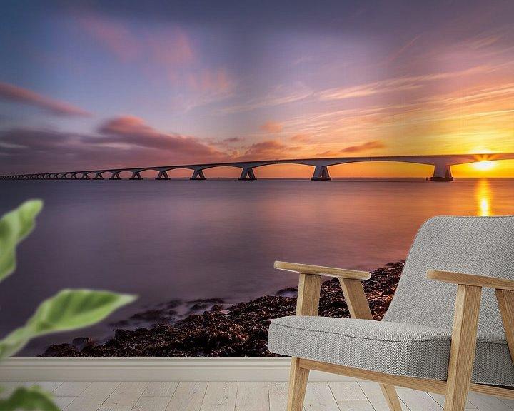 Sfeerimpressie behang: Zeelandbrug in de morgen - 3 van Tux Photography