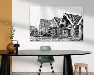 Dorpsgezicht van Oosterend op Texel