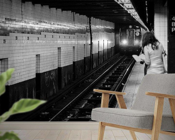 Sfeerimpressie behang: New York City metro van Capture the Light