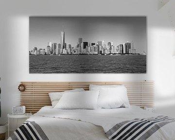 Manhattan Skyline, zwart/wit van Capture the Light