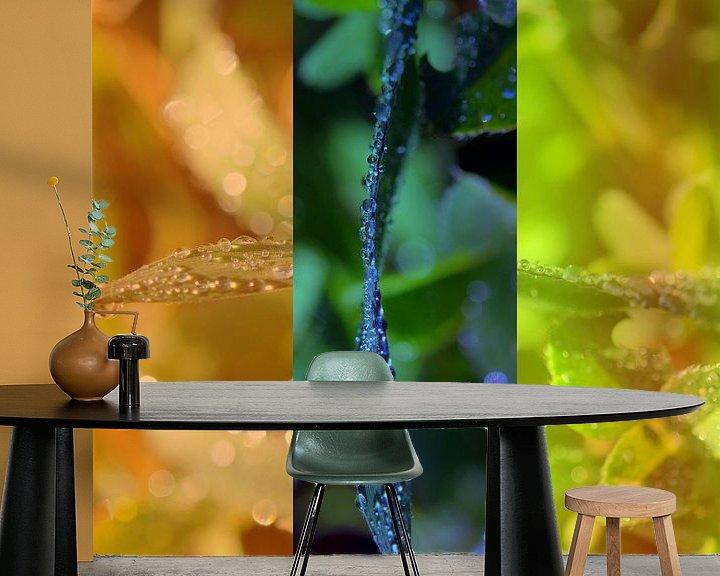 Sfeerimpressie behang: Triptyque végétal van Martine Affre Eisenlohr