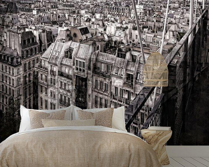 Impression: Immeubles parisiens sur Martine Affre Eisenlohr