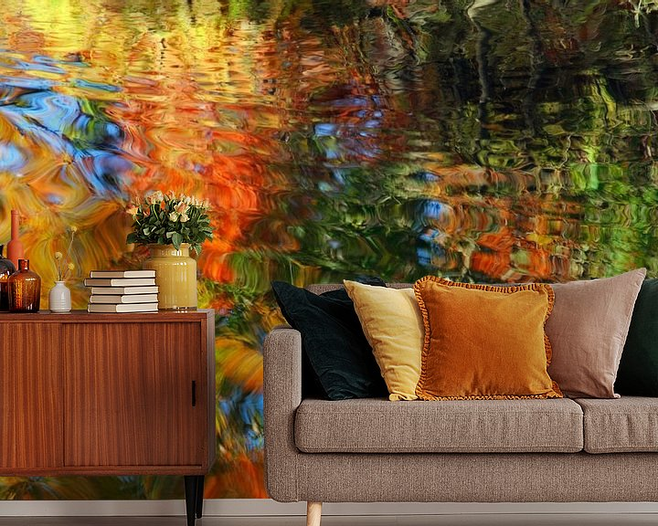 Sfeerimpressie behang: Au fil de l'eau van Martine Affre Eisenlohr