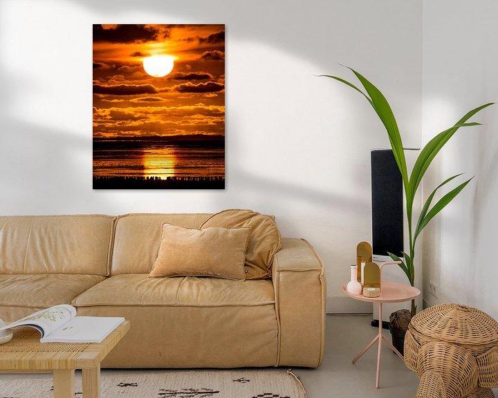 Sfeerimpressie: Zonsondergang bij Paesens Moddergat van Harrie Muis