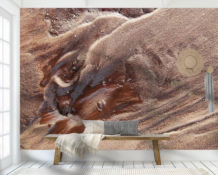 Sfeerimpressie behang: Zand Structuur van Ron de Poorter
