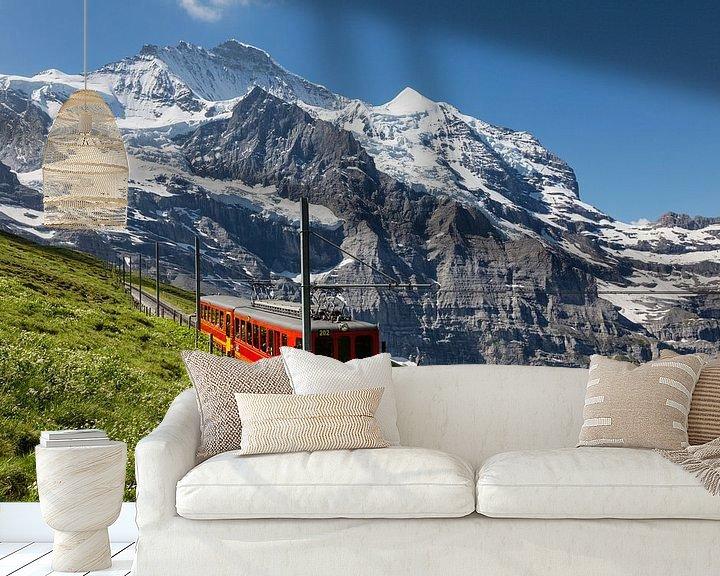 Sfeerimpressie behang: Jungfraubahn van Bart van Dinten