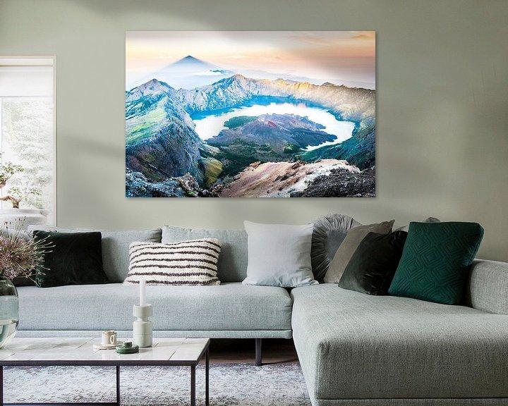 Sfeerimpressie: Rinjani vulkaan van Roel Beurskens