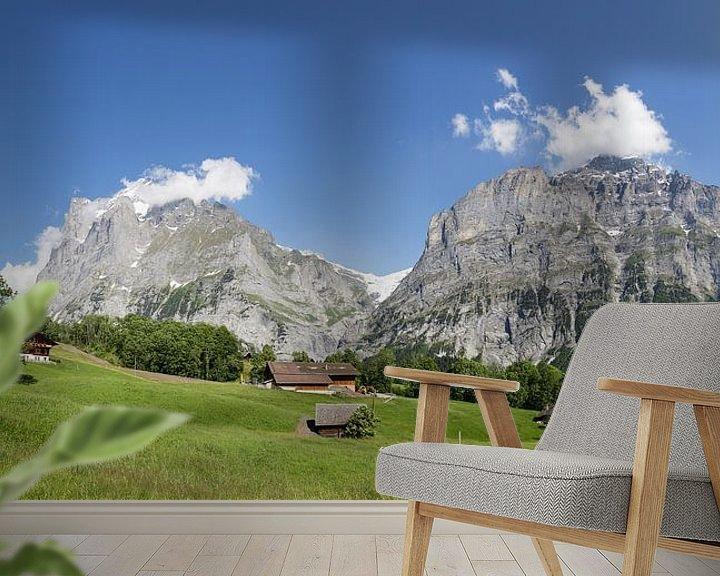 Sfeerimpressie behang: Grindelwald van Bart van Dinten
