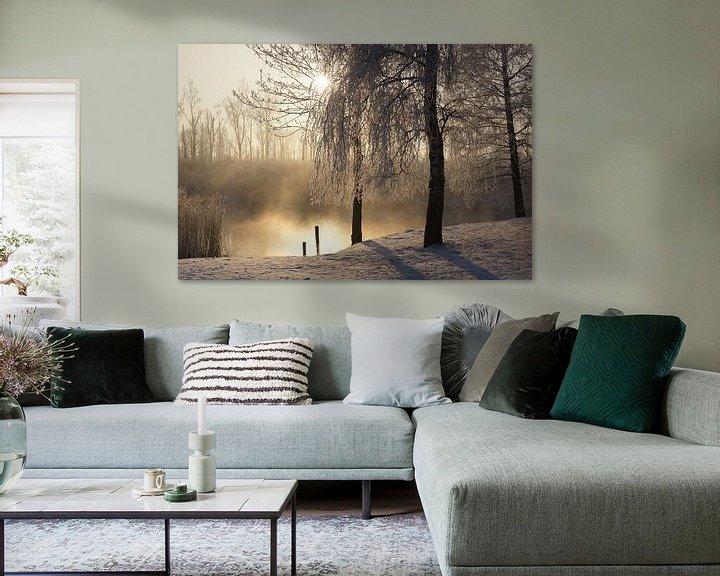 Sfeerimpressie: Winter in de Biesbosch van Michel van Kooten