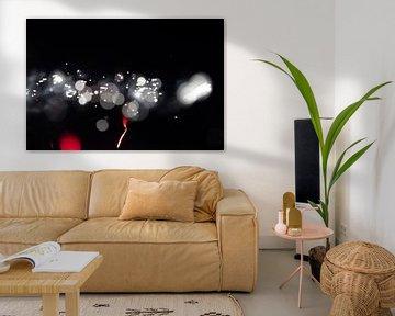 witte en rode lichtjes van Robin Steen