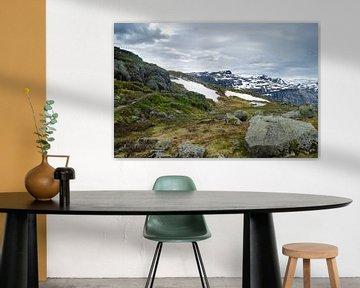Bergpas in Ringedalsvatnet - Noorwegen van Ricardo Bouman