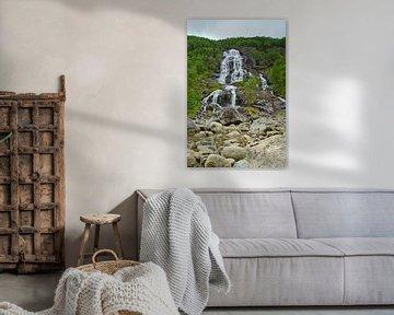 Brattland Waterval - Noorwegen van Ricardo Bouman