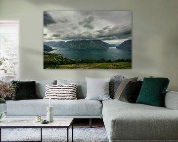 Aurlandsfjorden - Noorwegen van Ricardo Bouman