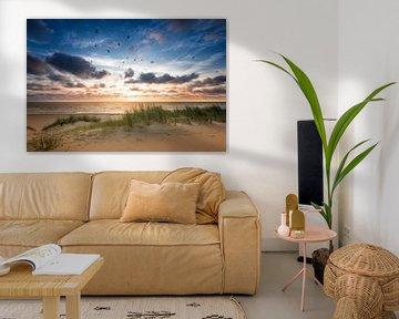 Sunset at Sea van Martijn Kort