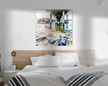 Zonsondergang onder de Scheveningse Pier van Thomas van der Willik