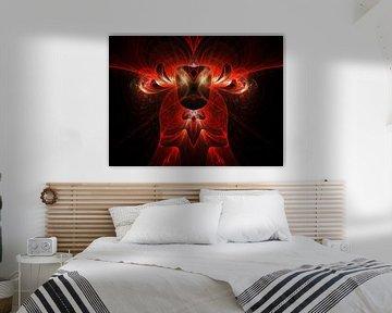Red fire Bull von Dagmar Marina
