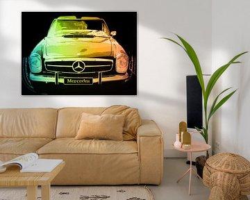 Mercedes Artwork in Pastels von Nicky`s Prints