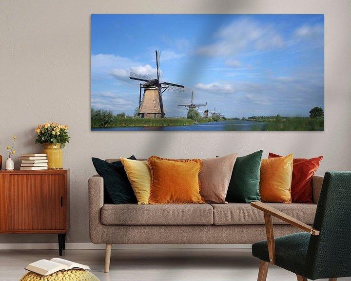 Sfeerimpressie: Molens Kinderdijk van Wim Zoeteman