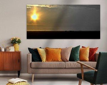 zonsopgang noord-hollands polder landschap von Sanne Willemsen