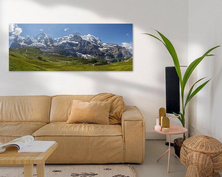 Sfeerimpressie: Panorama Jungfrau Region van Bart van Dinten