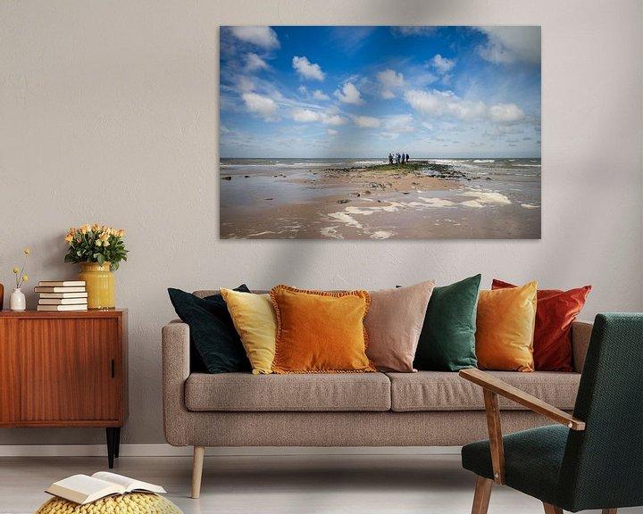 Impression: Sur la plage. sur Nicole van As