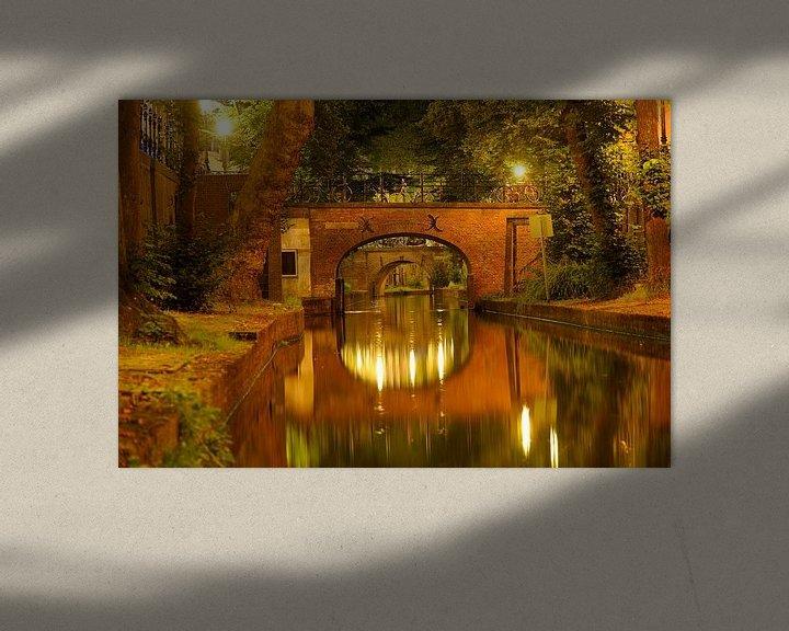 Beispiel: Nieuwegracht in Utrecht mit Brigittenbrug und Paulusbrug von Donker Utrecht