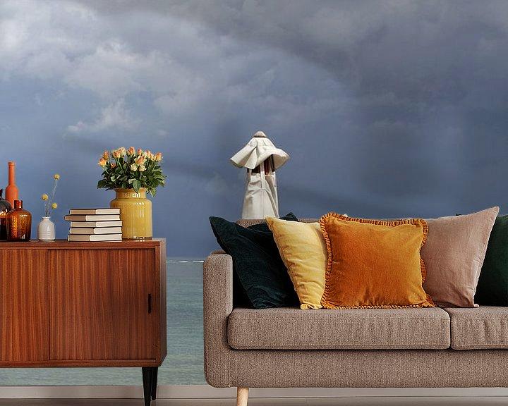 Beispiel fototapete: Dunkler Himmel, Bali von Inge Hogenbijl