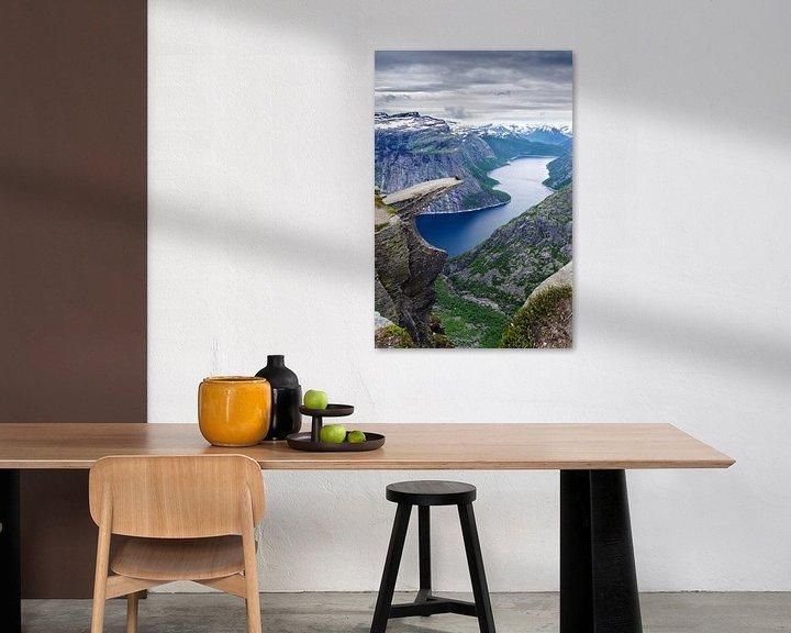 Beispiel: Trolltunga en de Ringedalsvannet - Norwegen von Ricardo Bouman