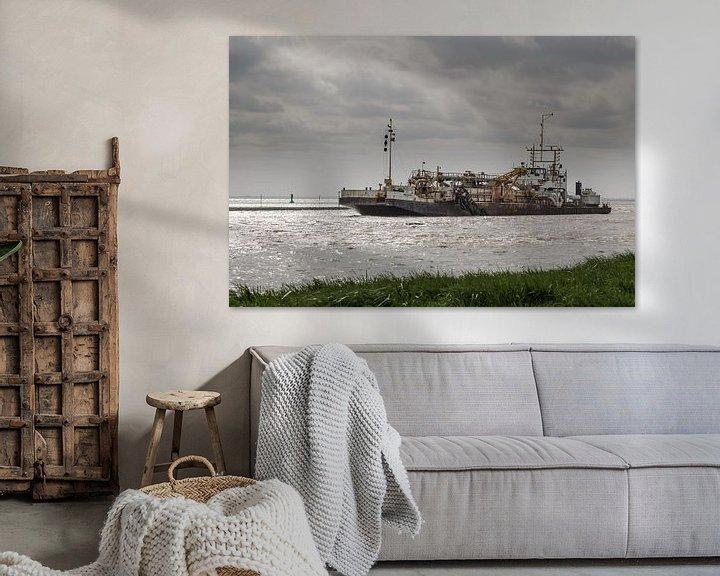 Sfeerimpressie: Baggerschiff am Dollart van Rolf Pötsch