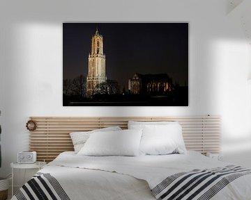 Domturm und Kirche in Utrecht von Donker Utrecht