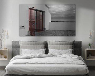 Roter Zaun von Winfried Weel
