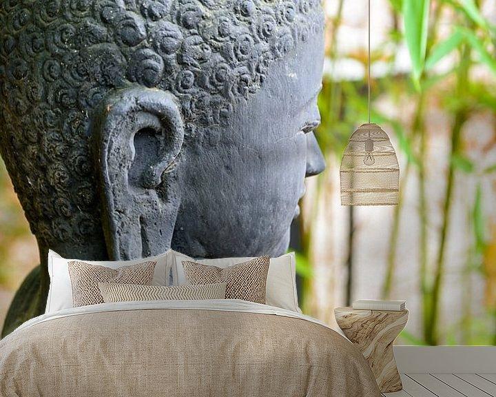Impression: statue of buddha in zen garden sur 7Horses Photography