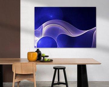 Blue Fractal 5 van Gerrit Zomerman