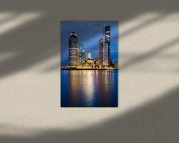 Blue hour-night Wilhelminapier Rotterdam von Maurice Verschuur