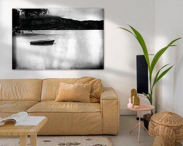 boat in Lake Annecy von Dennis Robroek