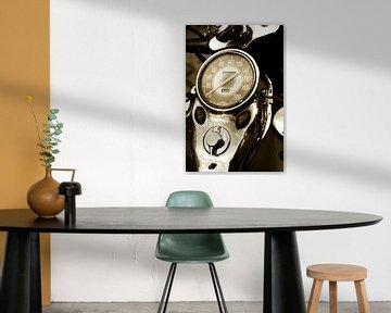 Kilometerteller Harley Davidson van Fotografie Arthur van Leeuwen