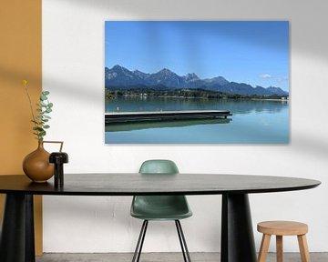 Alpen am Forggensee van Karin Sigwarth