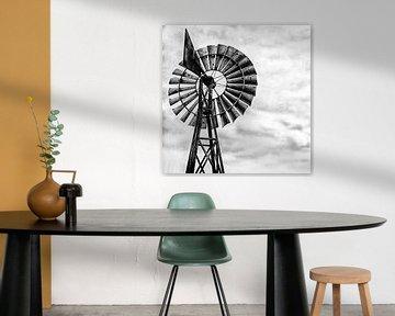 windmolen in zwart wit van Carina Meijer ÇaVa Fotografie
