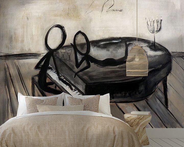Sfeerimpressie behang: piano van Christin Lamade